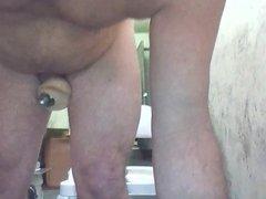 Joey D Anal pleasure and cumshot view from BELOW