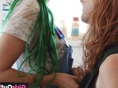 Hirsute lesbians finger and lick hairy holes