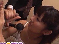 Misato Kuninaka amazing blowjob to end with facial