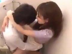 japanes Girl Fucked in Bathroom