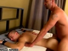 Naked wet hairy twink and old gay man