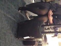 Pantyhose upskirt of my favorite flight attendant