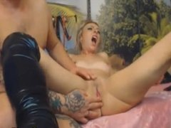 Blonde Babe Get Pussy Lick Finger and Fuck