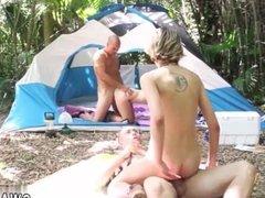 Dad helps playmate's daughter Backwoods