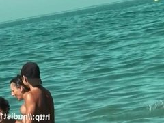 Nude beach voyeur film sexy ass women