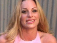 Blonde Slut AQ Outdoor Sloppy Blowjob
