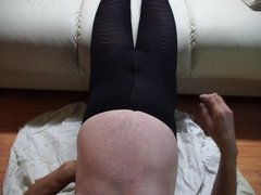 other wetting black pantyhose