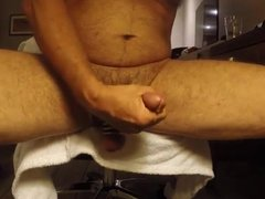 Cumming in front of web cam