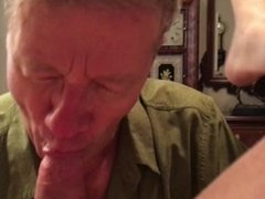 An Old Cocksucking Faggot Sucking a Big Cock