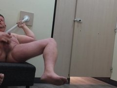 Wanking in Changing Room