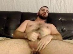 Piercing bear man masturbation (no cum)