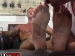 Gum on feet men gay first time relished