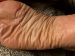 Sperm Therapy on Soles - Rubbed In!