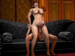 3D futa fuck and cum