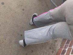 Bbw Big booty gilf in grey sweat pants