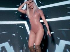 Shakira booty shake in latex