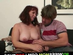 She is watching him fucking her mom