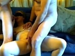 Couple share cock MMF