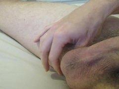 Big oozing ejaculation cumshot on my tummy. No Hands!
