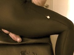 Spandex Leather Chair Cum