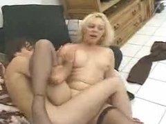 Blonde whore fucks