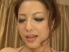Meisa Hanai blows and strokes cock in crazy