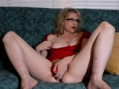 Masturbating with pink toy part one
