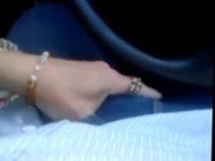 amiga y yo en el auto
