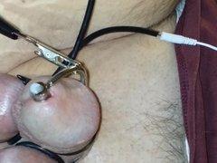 Electrosex Cum Shot with thru hole penis plug