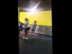 2 big ebony booties at the gym(short vid)