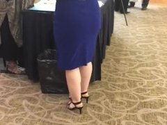 Blue Dress PAWG at a Conference