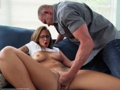 Big tit waitress xxx ally's daughter gives