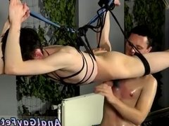 Bondage gay twink Jerked And Drained Of