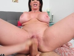 Hottest Threesome! Busty MILF Sara Jay Fucks Her Guests!