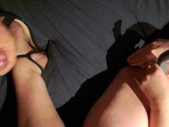 Cum on wifes nylon and heels
