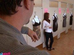 Amateur Teen in dressing room