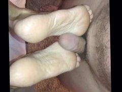 Milf Foot Job Cum Toes