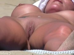 Shaved pussy wet nudist milfs beach voyeur HD Video SpyCam