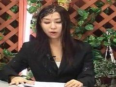Bukkake Tv - Cum Shower on Live Anchor Woman