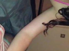 girlfriend teasing in new lingerie