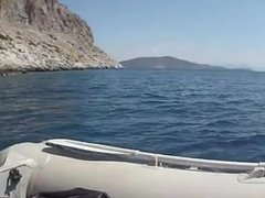 baise sur un bateau