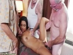 Old woman mature grandma Staycation with a