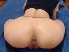 Beautiful blonde fisting ass