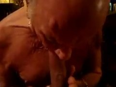 Grandpa sucking a nice big cock