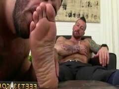 Men cock and feet gay first time Hugh
