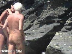 Nudist beach  preys on  young hotties