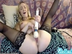 karla kush massaging pussy with vibrator until she squirts