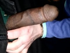 Lil interracial dick strokin