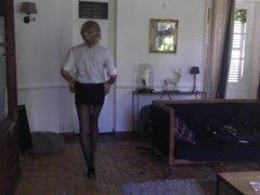 TRAVESTI CD TS TV SISSY COLLANTS PANTYHOSE walk
