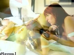 Hot Redhead Lauren Phillips First EVER Vid with Vicky Vette!